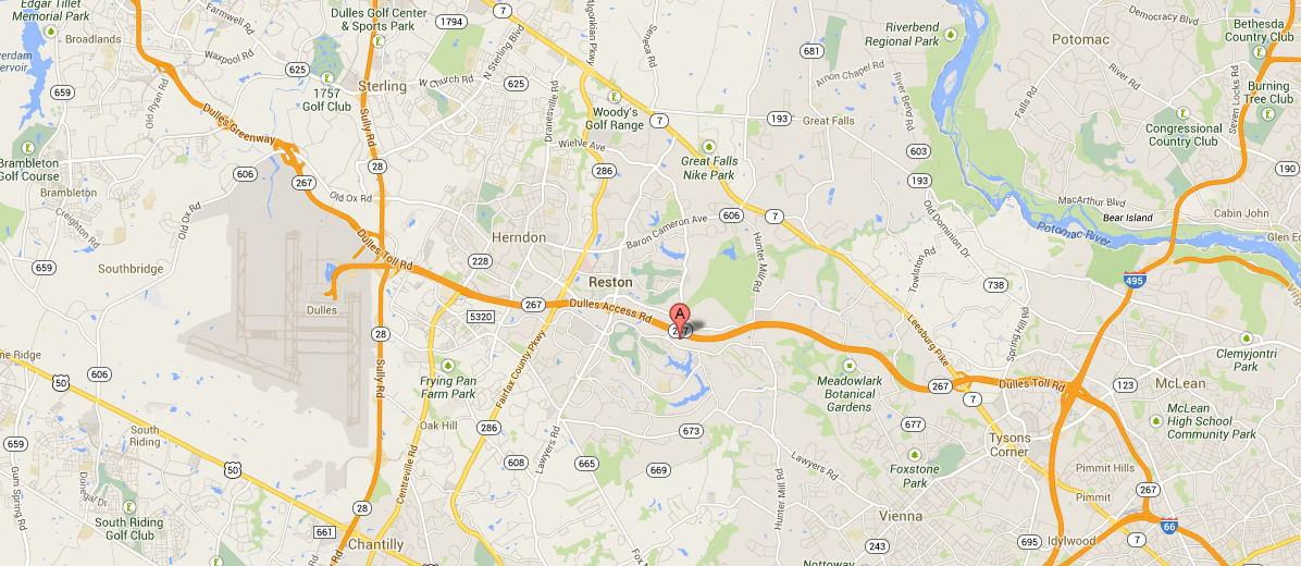 Map of xtone's Reston office